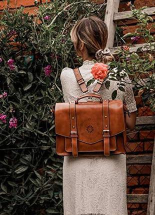 Кожаный модный рюкзак