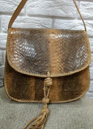 Эксклюзивная сумка натуральная кожа питона