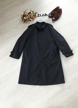 Мужское пальто мужской плащ стильный плащ для мужчины l синий ...
