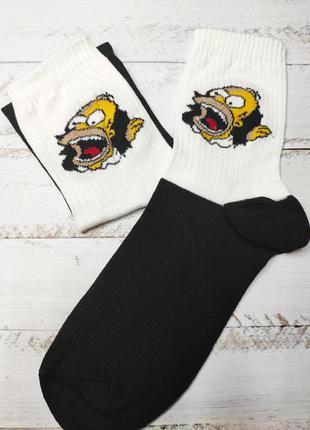 Носки с принтами надписами приколами високі шкарпетки з написа...