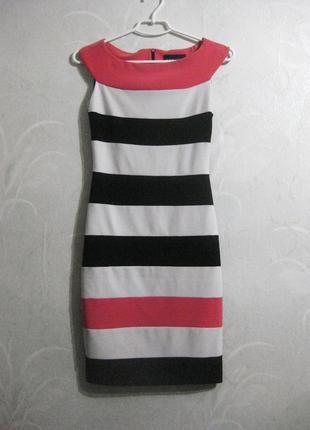 Платье frank lyman канада в полоску белое чёрное разноцветное ...