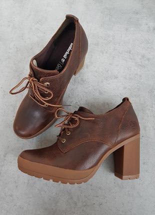Timberland. р39-40. Кожаные ботинки, ботильоны. Оригинал из США.