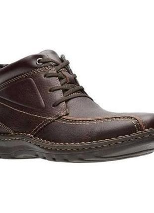 Clarks (стел 30,5-31см.) Кожаные демисезонные ботинки. Оригинал.