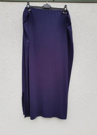 Трикотажная базовая длинная юбка evans