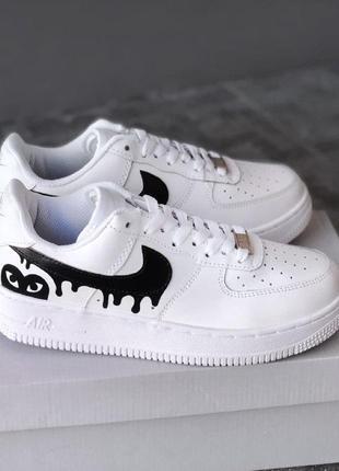 Кроссовки nike air force 1 white/black