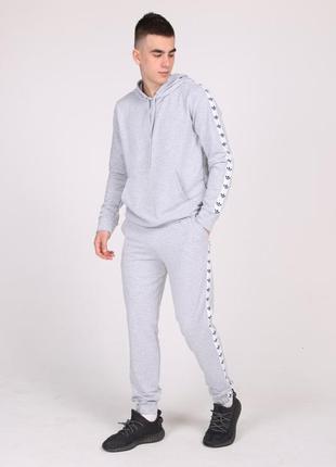 Спортивный костюм adidas duo, мужской, серый