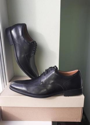 Clarks ● р44/45 ● мужские демисезонные, кожаные туфли. оригина...