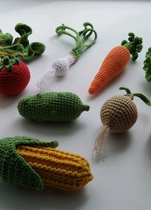 Набор овощей крючком