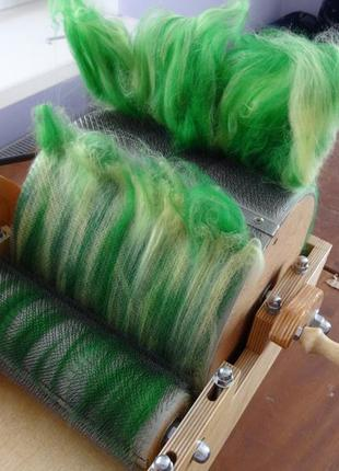Барабанный кардер для обработки шерсти ручная работа