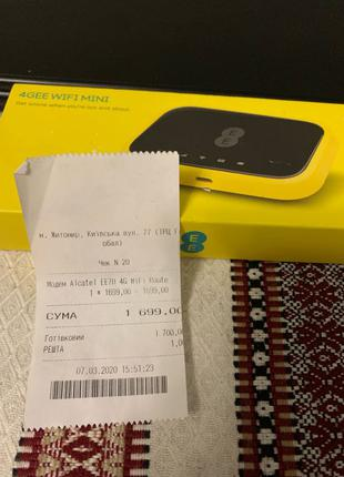 4G LTE Wi-Fi роутер Alcatel EE70 (Киевстар, Vodafone, Lifecell)