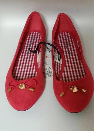 Красные балетки Oyanda