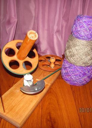 Моталка деревянная для перемотки пряжи в клубок , ручная работа