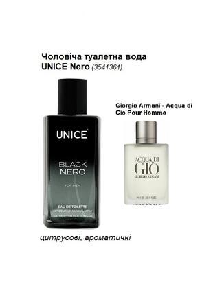 Мужская туалетная вода UNICE Nero, 100 мл