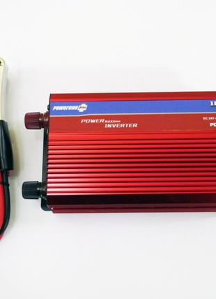 Инвертор 1000W 24V Преобразователь тока с Вольтметром