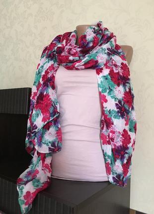 Тонкий длинный шарф акрил
