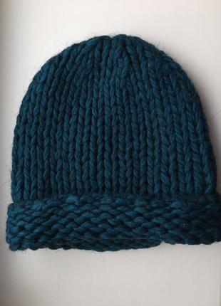 Бирюзовая шапка акрил c&a
