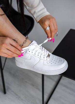 Шикарные Женские кроссовки nike air force all white(36-40р)