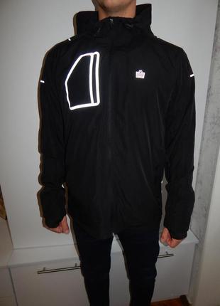 Admiral куртка ветровка мужская модная рl чёрная