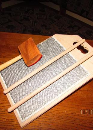 Доска кардная для вычесывания волокон шерсти  перед прядением
