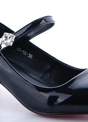 Туфли лодочки женские,черные лаковые,размеры 36,37,38,39,40,41