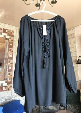 Шикарная блуза с вышивкой с биркой на подарок
