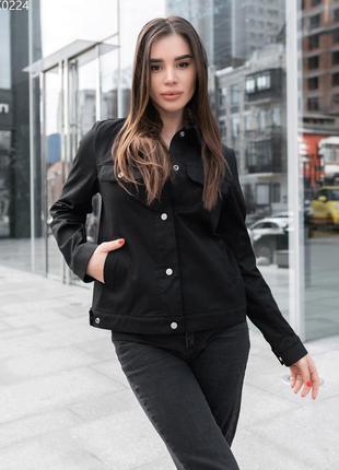 Art. ffk0224. жіноча куртка staff di black