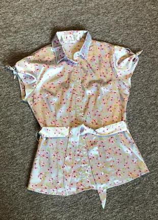 Атласна блуза oodji, красивая атласная блузка