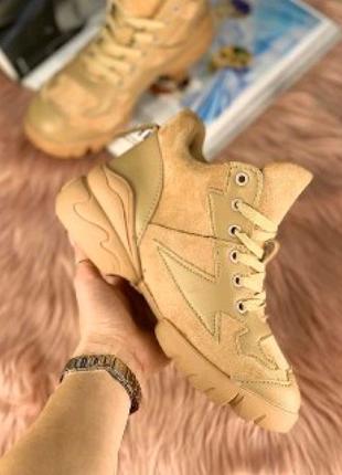 Женские ботиночки диор бежевые