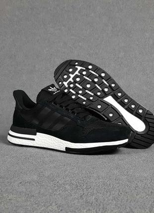 Кроссовки мужские adidas zx 500 черные / кросівки чоловічі адидас