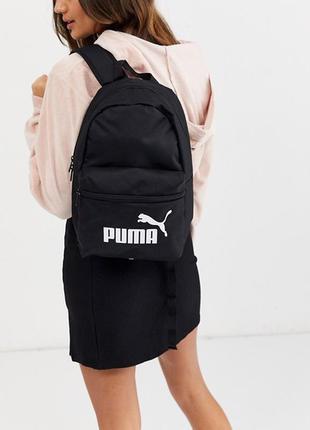 Черный спортивный рюкзак puma phase small