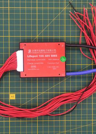 Плата BMS 16S 48 вольт 60А для LiFePO4 аккумуляторов