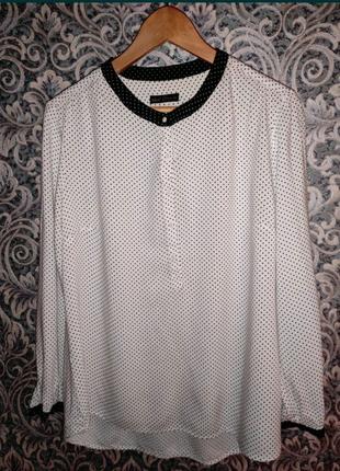 Блузка в горошек, Sela, 48 размер