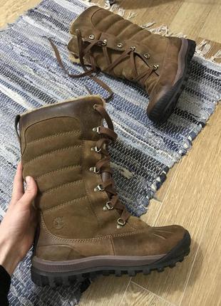 Зимние кожаные сапоги timberland,37