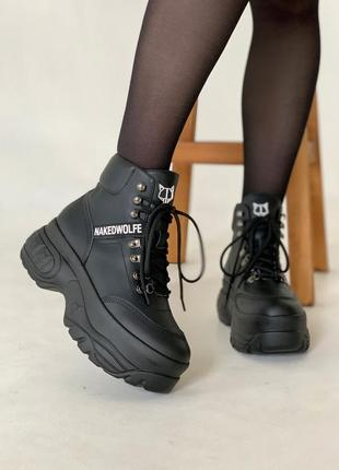 Шикарные женские ботинки/ сапоги/ кроссовки на платформе naked...