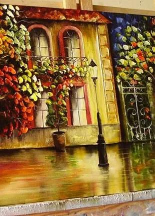 """Картина маслом """"Осінній вечір"""" 40х60"""