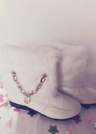 ✅красивенные зимние ботиночки на меху с натуральным мехом крол...