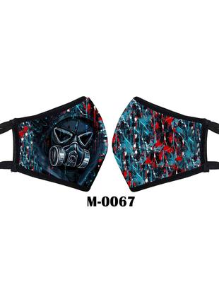 маска защитная многоразовая противогаз. комуфляж