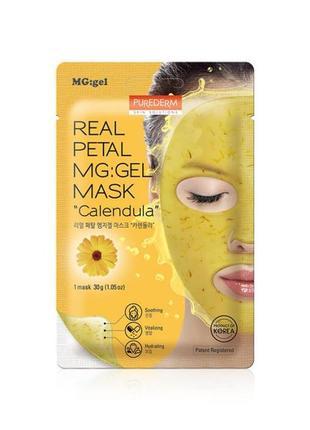 Гидрогелевая маска для лица purederm real petal mg:gel mask ca...