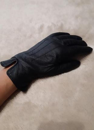 Кожаные перчатки осень-зима размер l