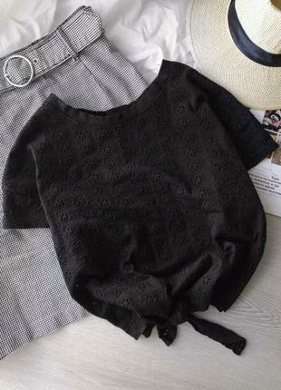 Красивая блуза топ из прошвы