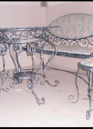 Кованая мебель,стол,стул,софа,для сада,для гостинной