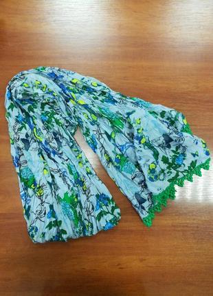 Подарок - шарф, цветочный принт