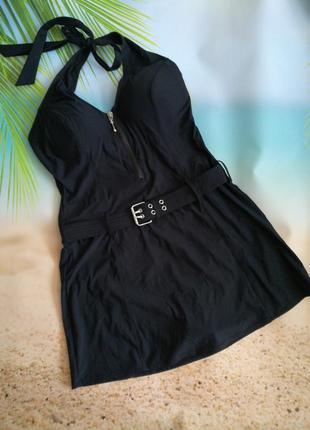 Суперский купальник-платье с утяжкой, с поясом