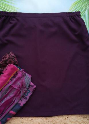 Юбка цвет марсала, размер 56 евро, шарф в подарок