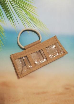 Модное баловство - соломенная маленькая мини сумочка