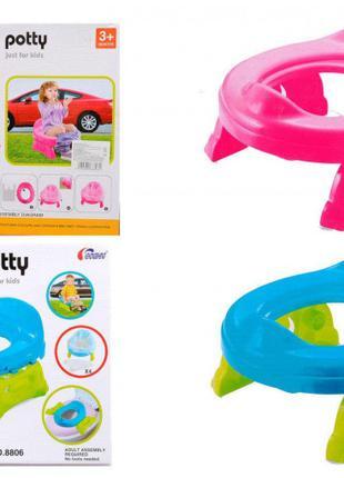 Детский дорожный горшок 8806 8808 с пакетами 2 цвета 2 в 1 сидень