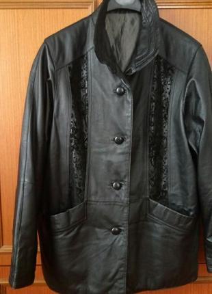 Куртка утеплённая натуральная кожа.