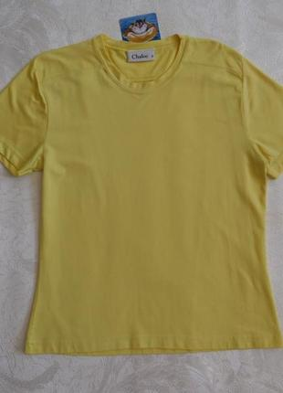 Спортивная футболка лимонного цвета chaloc