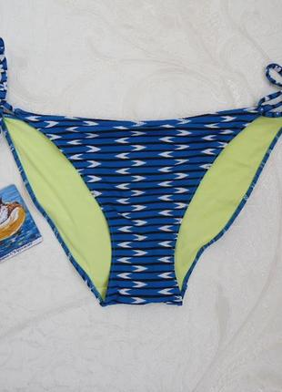 Плавки женские низ от купальника на завязках орнамент
