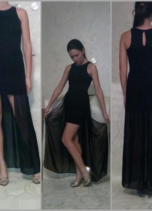 Супер платье с шифоновой юбкой